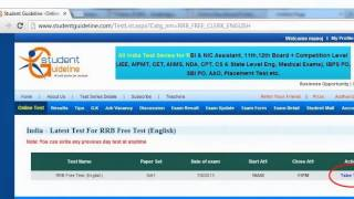 How to write Free Online Test Series on www.studentguideline.com