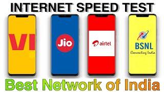Jio vs airtel vs vi(Vodafone idea) vs bsnl internet speed test - amazing results