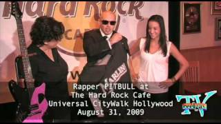 Rapper PITBULL appearance at Hard Rock Cafe Universal CityWalk Hollywood