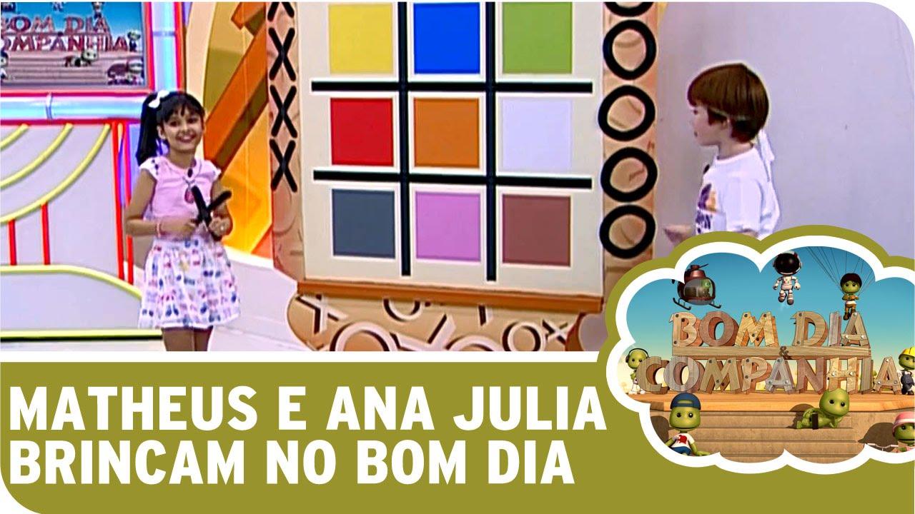 Bom Dia E Cia: Matheus E Ana Julia Brincam No Bom Dia E Cia