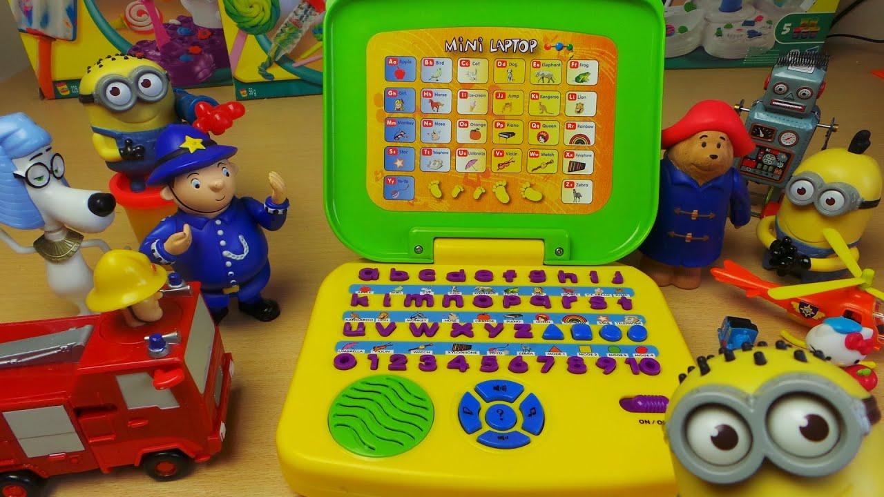 Kindergarten Mini Toy Alphabet Laptop In English