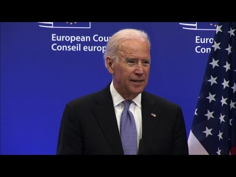 "Joe Biden says US and Europe ""have to stand with Ukraine"""