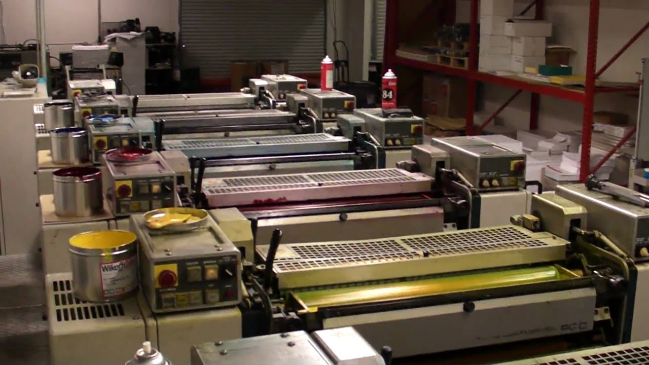 Color press printing - Sonicprint Com 6 Color Komori Printing Press Running 12 000 Sheets And Hour Youtube