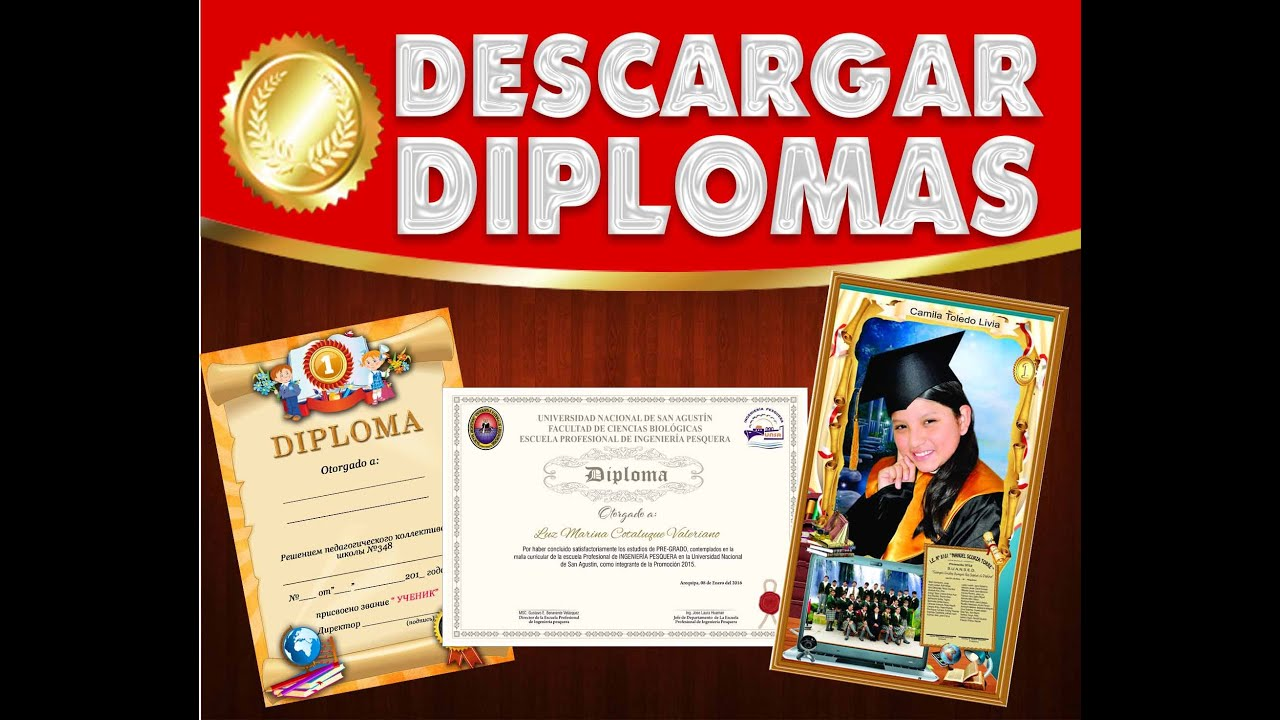 Descarga - diplomas para Editar en diferentes formatos psd - YouTube