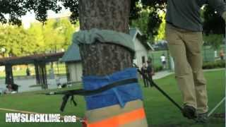 Towel Tubes: the ultimate in slackline tree padding