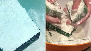 Floral foam crushing video | cornstarch and floral foam videos | Sahara foam | ASMR crush
