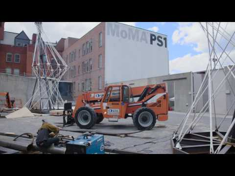 Raising a solar-active canopy at MoMA PS1 | LUMEN Part 3 of 4 | AT THE MUSEUM