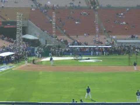 LA Dodgers at the LA Coliseum