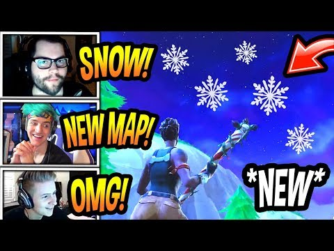 STREAMERS REACT TO *SNOWING* IN FORTNITE! (SEASON 7 SNOW MAP!) Fortnite FUNNY & EPIC Moments