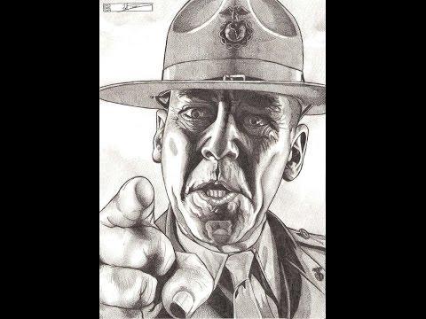 R  Lee Ermey - Full Metal Jacket Gunnery Sergeant Hartman - A Dredfunn Photorealistic Drawing