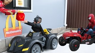 McDonalds Drive Thru Prank!! Batman Payback Time for Spiderman Ckn Toys thumbnail