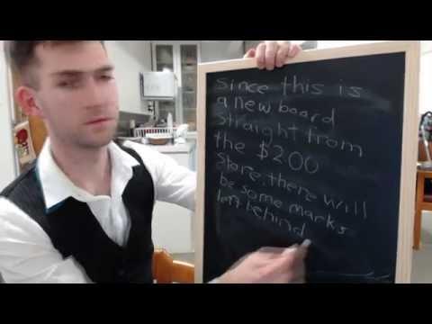 ASMR Chalkboard, chalk, doodling, and writing for sleep