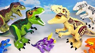 NEW LEGO DINOSAURS JURASSIC WORLD TOYS COLLECTION for kids - INDOMINUS REX T-REX VELOCIRAPTOR