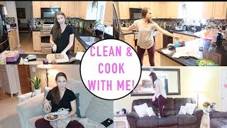 Clean and Cook with Me!  Disaster of a House + Dinner Inspiration!