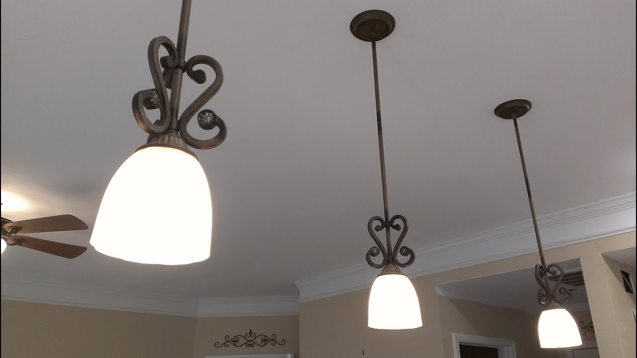 Drop Lights For Kitchen How To Install A Pendant Light Fixture Youtube