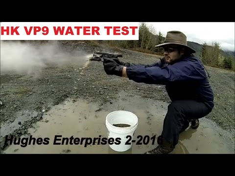 Flawless HK VP9 Water Mud Torture Function Test + Shooting Pistol Underwater