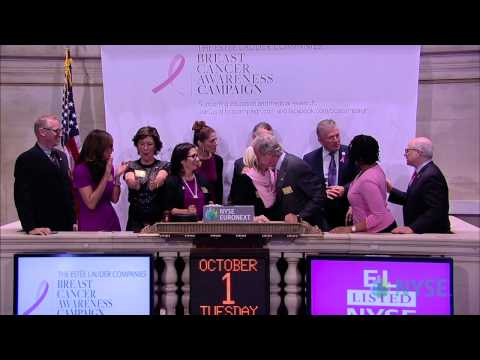 The Estée Lauder Companies Inc. Kicks Off The 2013 Breast Cancer Awareness Campaign at NYSE