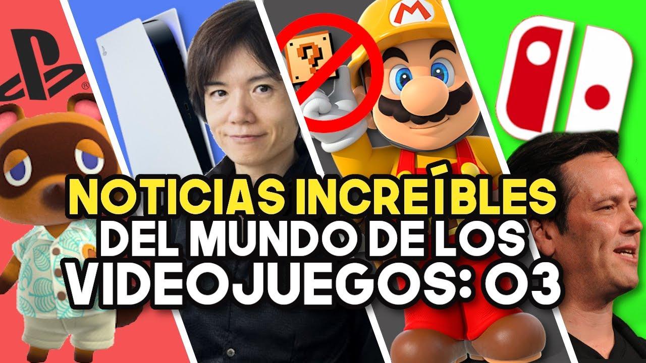 NOTICIAS INCREÍBLES DEL MUNDO DE LOS VIDEOJUEGOS 03 (RESUMEN SWITCH - PS5 - XBOX SERIES X|S)