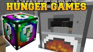 Minecraft: WEIRD ROOM HUNGER GAMES - Lucky Block Mod - Modded Mini-Game