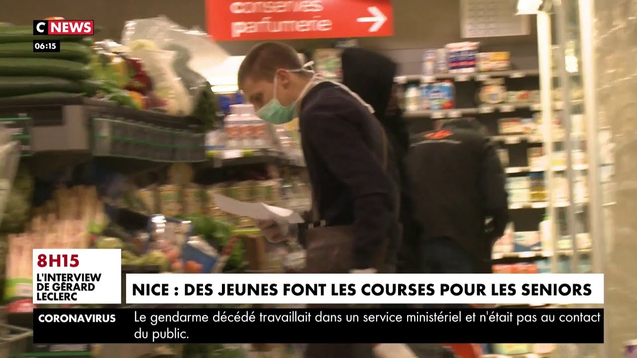 Nice : des jeunes font les courses pour les seniors