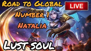 Road to global number 1 Natalia | Mobile Legends