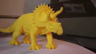 Triceratops 3D Printed On MakerGear M2