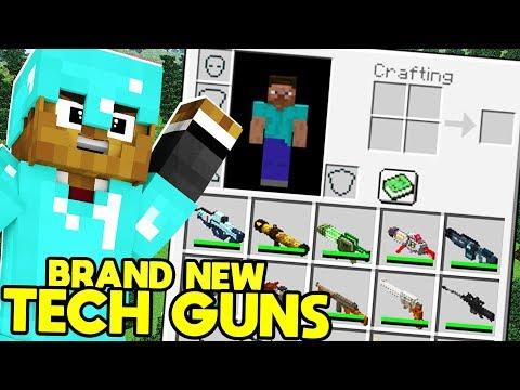 BRAND NEW Minecraft MODDED Hunger Games MORPH ANIMALS MOD w/ FUTURE TECH GUNS