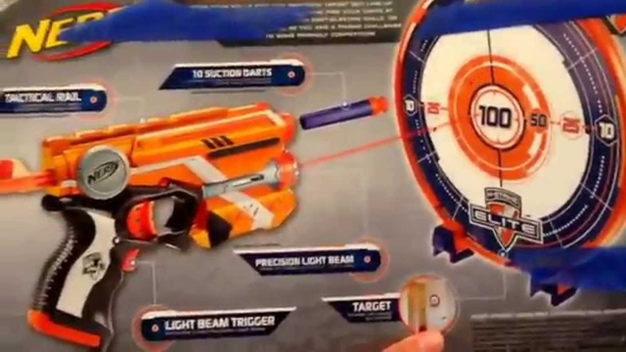 NERF Precision Target Set Soft Dart Gun And Toy Review