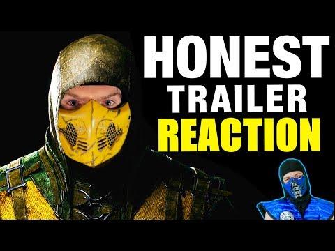 Scorpion & Sub-Zero REACT - MORTAL KOMBAT X (Honest Game Trailers) | MKX REACTION PARODY!