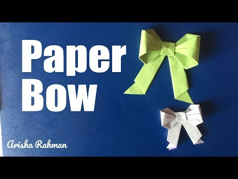 How to make paper bow/ribbon | easy origami paper bow | Step by step | DIY Paper Bow