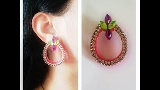 Quilling Chandbali Earring Tutorial/ Design 3