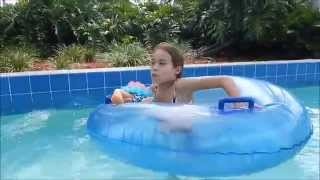 Down the Lazy River at the Water Park with Full Body Silicone Baby Doll