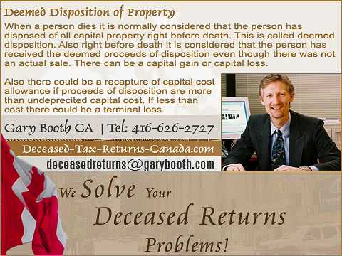 Deemed Disposition of Property | Deceased-Tax-Returns-Canada.com (Toronto Services)