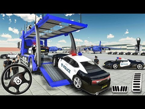 Transporting Police Vehicles in Cargo Plane - Police Car Transporter Simulator - Android Gameplay