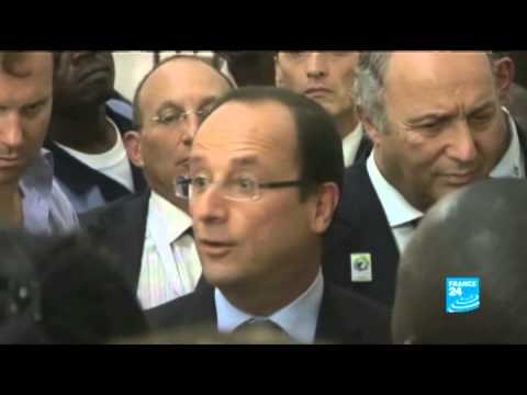 DRC : Inauguration of the Floribert Chebeya media center in Kinshasa by French President Hollande