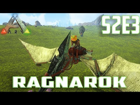 Let's Play ARK: Survival Evolved (Single Player Ragnarok)S2-Ep.3-Taming A Pteranodon & Giga Chase