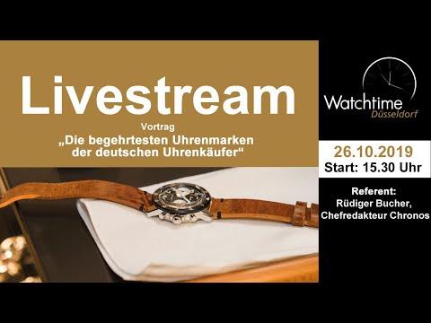 """Watchtime Düsseldorf: Vortrag """"Die Begehrtesten Uhrenmarken Der Deutschen Uhrenkäufer"""""""