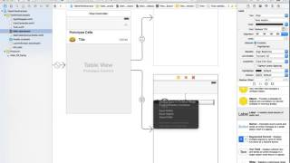 6 Xcode 7 Tableview Push Segue Detail View