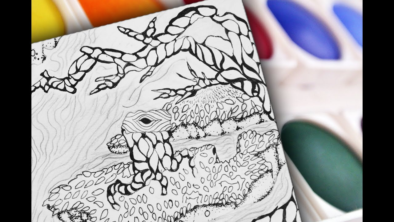 Line Drawing With Fineliner And Pencils : Drawing and inking with fineliner quot landscape dream