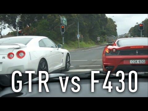 Nissan GTR vs Ferrari F430