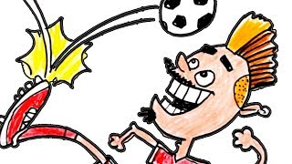How to Draw a Soccer Player & Make Cartoon Motions | Learn to draw for Kids