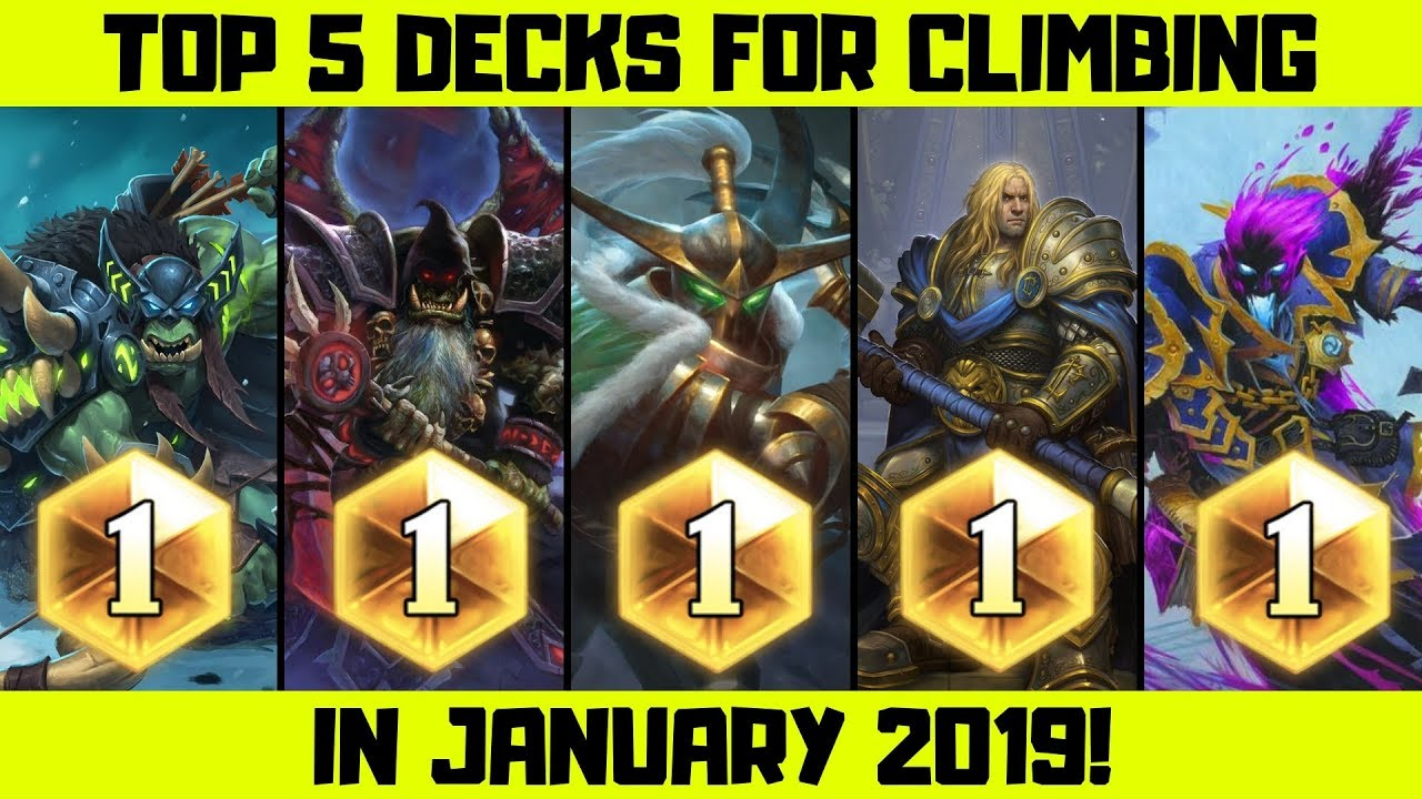 Hearthstone Best Decks 2019 Hearthstone Top 5 Decks To Reach Legend In January!   YouTube