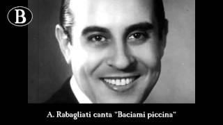 """Pippo Barzizza e i suoi cantanti. Alberto Rabagliati in """"Baciami piccina"""". Orchestra Cetra, 1941"""