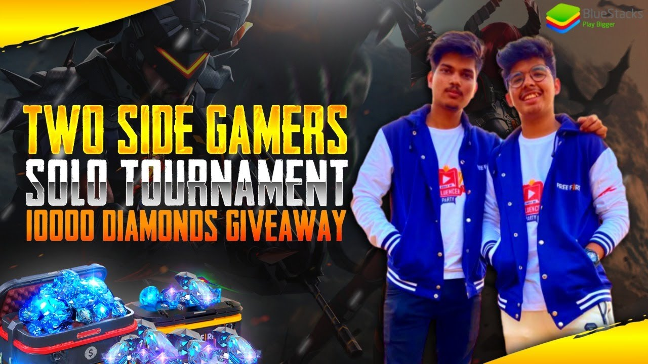 FREE FIRE INDIA SOLO TOURNAMENT || 10000 DIAMONDS GIVEAWAY BY BLUESTACKS  WHO IS SOLO KING