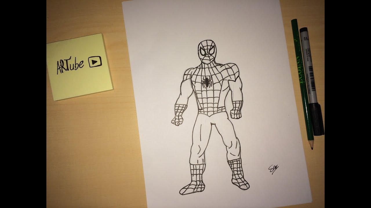 Comment dessiner spiderman how to draw spideman tutorial youtube - Dessiner spiderman ...