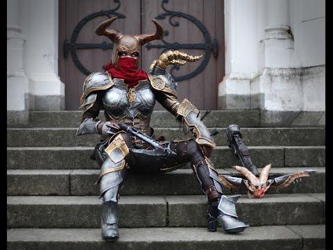 Cosplay Hacks - Detachable horns for cosplay (Demon Hunter)
