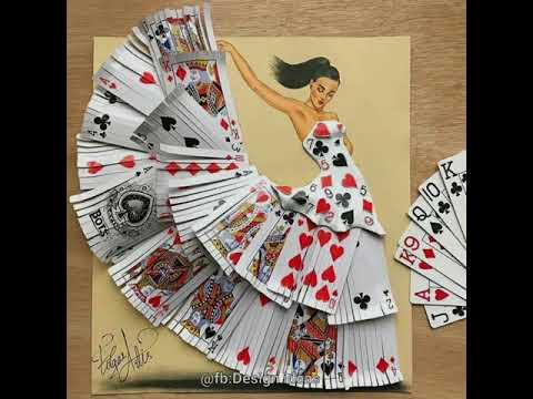 Armenian fashion illustrator Edgar Artist uses stylized paper cut   beautiful dresses