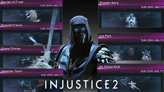 Injustice 2: Sub-Zero All Unlockable Abilities