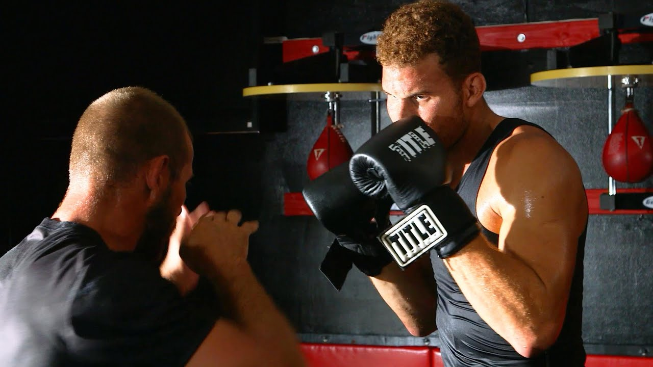 NBA star Blake Griffin trains with MMA fighter