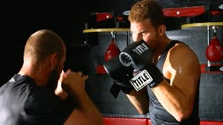 "Blake Griffin Grapples with UFC Star Donald ""Cowboy"" Cerrone 